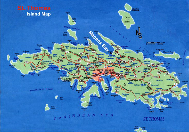 st thomas map